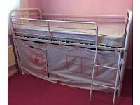 Next white midi sleeper/single pink and white frame