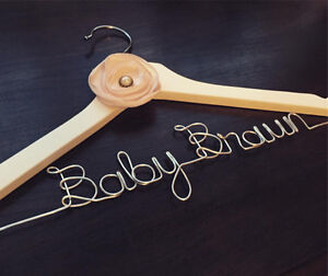 Personalized Wire Hangers, Cake Topper & Table Numbers - WEDDING Cambridge Kitchener Area image 7