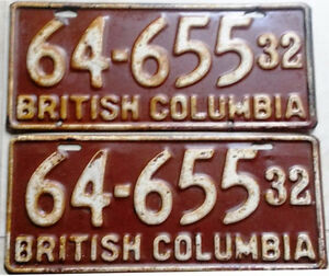 = Vintage Collector License Plates = 30's, 40's, 50's, 60's,....