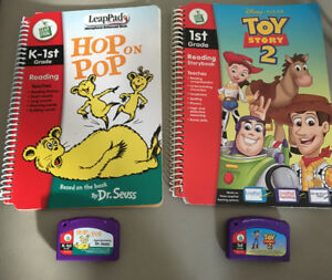 LEAPPAD Leap Frog MICROPHONE ENHANCED BOOKS AND CARTRIDGES USED