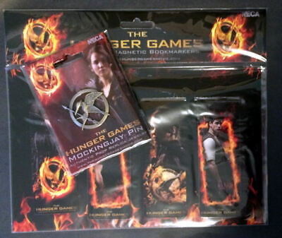 NEW Hunger Games Authentic Prop Replica Mockingjay Pin & Magnetic Bookmarks Neca](Mocking Jay Pin)