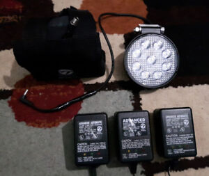For sale a high power rechargeable 12 volt bike light.