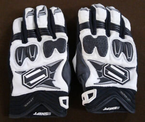 Shift Chaos Leather Motorcycle Gloves - Size L