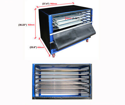 1200w 6-layer Silk Screen Printing Drying Cabinet Warm Exposure Unit 35x23.5