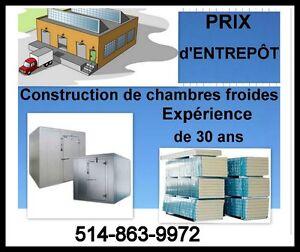 *CONSTRUCTION DE CHAMBRES FROIDES*EXPÉRIENCE DE 30 ANS*
