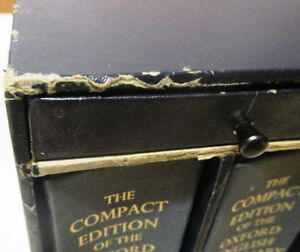 Oxford English Dictionary, Compact Edition 1971, 2 Volumes Set Stratford Kitchener Area image 9