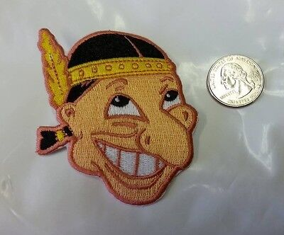 """Cleveland Indians Rare Vintage LOGO Embroidered Iron On Patch (3"""" X 2.5"""") MLB"""