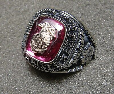U S  Marine Corps Mens Ring By Jostens With Stone  Size 9  Engraved