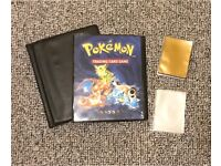 Pokemon TCG binder and sleeves, free to collect