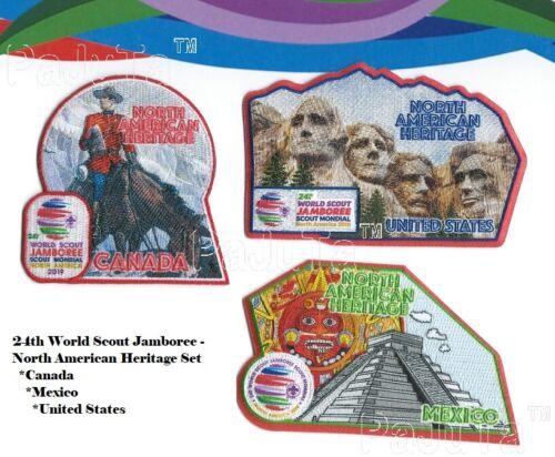 24th WORLD SCOUT JAMBOREE (2019) North America Heritage Set of 3 - MINT-NEW!!