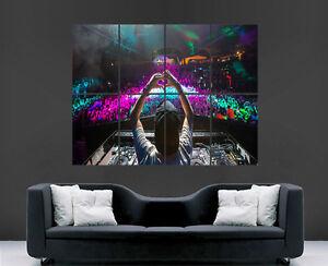 AVICII MUSIC POSTER DJ DECKS NIGHT CLUB IMAGE PRINT PICTURE GIANT HUGE CLUBBING