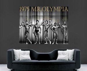 ARNOLD SCHWARZENEGGER POSTER BODYBUILDER GYM FITNESS 1975 MR OLYMPIA  PRINT
