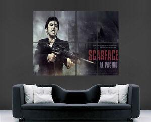 SCARFACE POSTER AL PACINO CLASSIC MOVIE WALL ART PRINT LARGE TONY MONTANA