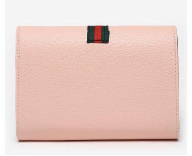 5e92f3f5f6 Women's GG Stripe Designer Inspired Handbag Pink Clutch Bag LV GG MK CC BNWT