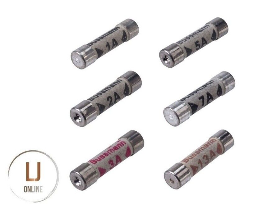 Assorted Cartridge Fuses Sets 3//5//13 AMP Domestic Fuse Household Mains Plug