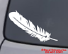 FEATHER Vinyl Decal Car Window Wall Bumper Laptop Native American Indian Symbol