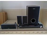Amplifier with speakers and subwoofer SONY