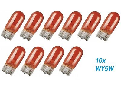 10x WY5W W2.1x9.5d T10 12V Amber Glühlampe Birne Soffitte Auto Lampe Glassockell