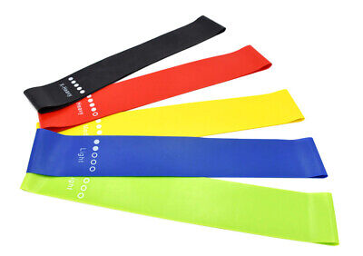 RESISTANCE BANDS MINI LOOP HOME GYM FITNESS YOGA GLUTE LATEX ABS SQUATS EXERCISE