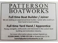 Boat builder / Joiner and Yard hand / labourer