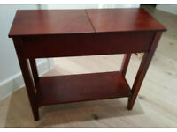 Compact Console/Reception Table - Dark Brown