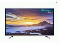 "SMART 55"" 3D LED HISENSE HD TV FREEVIEW WIFI YOUTUBE ETC"