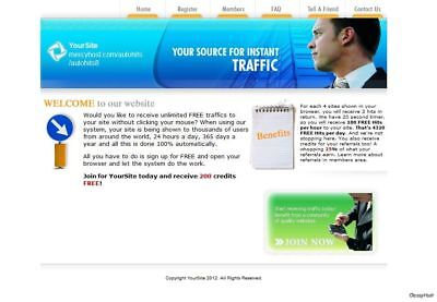 Auto Hits Links Exchange Marketing Business Website For Sale. Website Marketing.