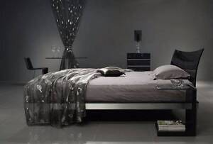 BEYOND FURNITURE WAVE BED DOUBLE SIZE GREY - IMMACULATE Chatswood Willoughby Area Preview