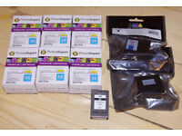 8 X HP 56 black ink cartridges Hewlett Packard cartridge refills, inkjet cartridges