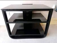 John Lewis Black Glass TV Stand
