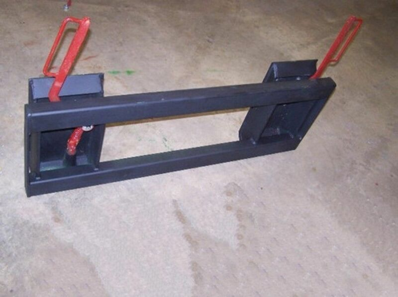 eSkid Steer Hitch Adapter with Blank EXTRA Heavy Duty Frame