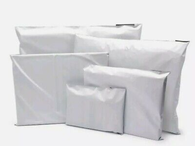 100 white Mailing Parcel Bags Mailers Poly postal Size 13