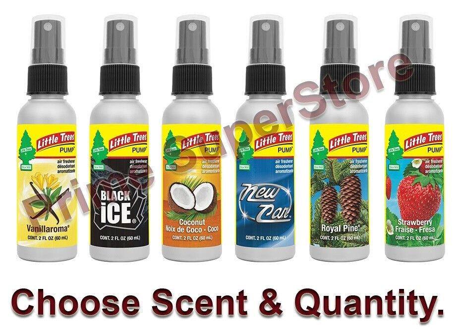 Little Trees 2 oz Pump Spray Air Freshener Scent Eliminates