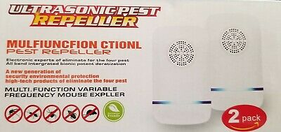 Ultrasonic Pest Repeller - (2 Pack) Electronic Plug in Best Repellent -