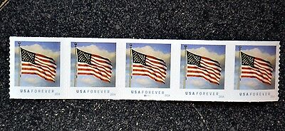 2016Usa  5052 Forever   U S  Flag Us   Pnc Coil Strip Of 5  B11111  Mint   Bca