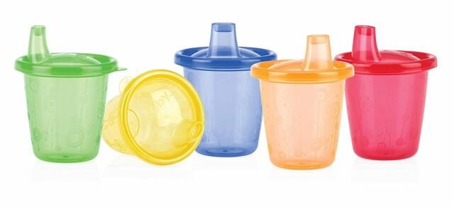 Nuby ID91121 Training Cup Set of 6 with Hard Spouts 210 ml Multicoloured
