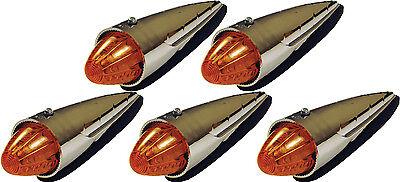 5 Amber Torpedo LED Cab Marker Lights Peterbilt Kenworth Trucks