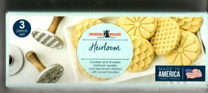 Nordic Ware Heirloom Cookie Stamps NEW set of 3- free recipes FREE SHIPPING!