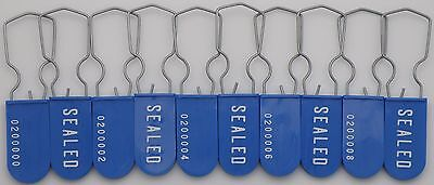 Electric Meter Security Seal Wire Padlock Blue Pack Of 10