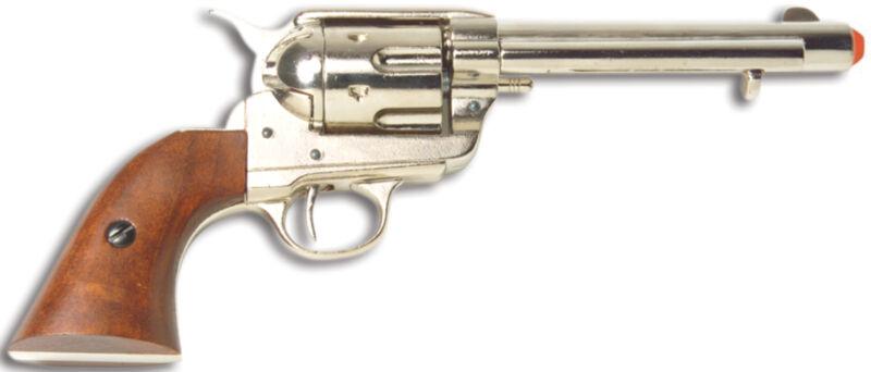 Denix Old West Frontier Revolver Replica - Nickel Finish