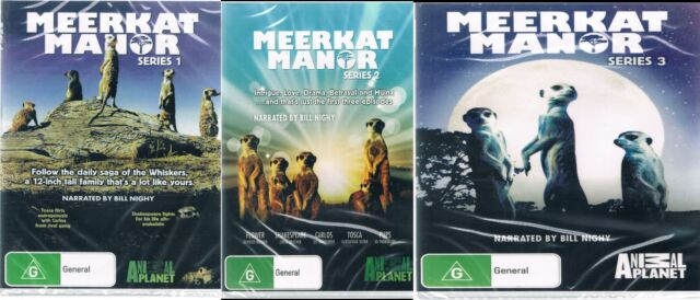 MEERKAT MANOR SERIES 1 , 2 & 3  (DVD) NEW AND SEALED