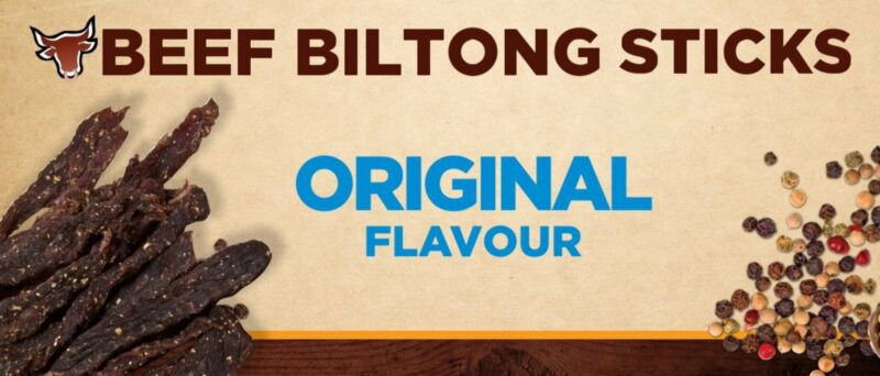 """Biltong Snapsticks (""""Stokkies"""") - Original Flavour"""