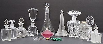 Lot of 12 Vintage Collectible Perfume Crystal Bottles Mint RARE