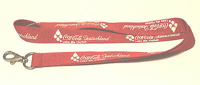 Coca Cola Deutschland Schlüsselband Lanyard NEU (T138)