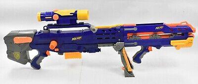 NERF N-Strike Longshot CS-6 Blaster Rifle Gun + Scope + Front Blaster + Clip