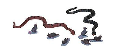 NEW~LEMAX~SPOOKY TOWN COLLECTION~CREEPY CRITTERS~SNAKES/RATS~HALLOWEEN MINIATURE