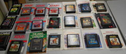 Original Atari Game Bundle with Instruction Manual Lot of 21 Games some Rare