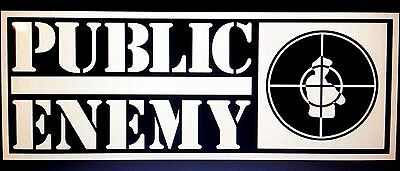 Наклейки и рисунки Public Enemy Vinyl