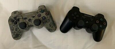 Ps3 Dualshock 3 Sixacis Wireless Controllers 1 Camo 1 Black I Charging Cable