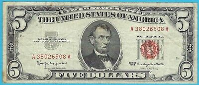 5 00 United States Note   1963   Granahan   Dillon   Fr  1536   A38026508a
